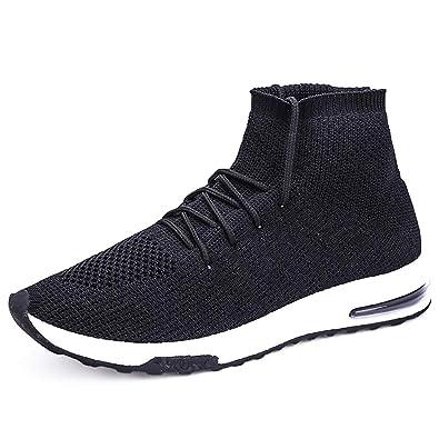 Männer Weaving High Top Socken Schuhe Trend Air Cushion