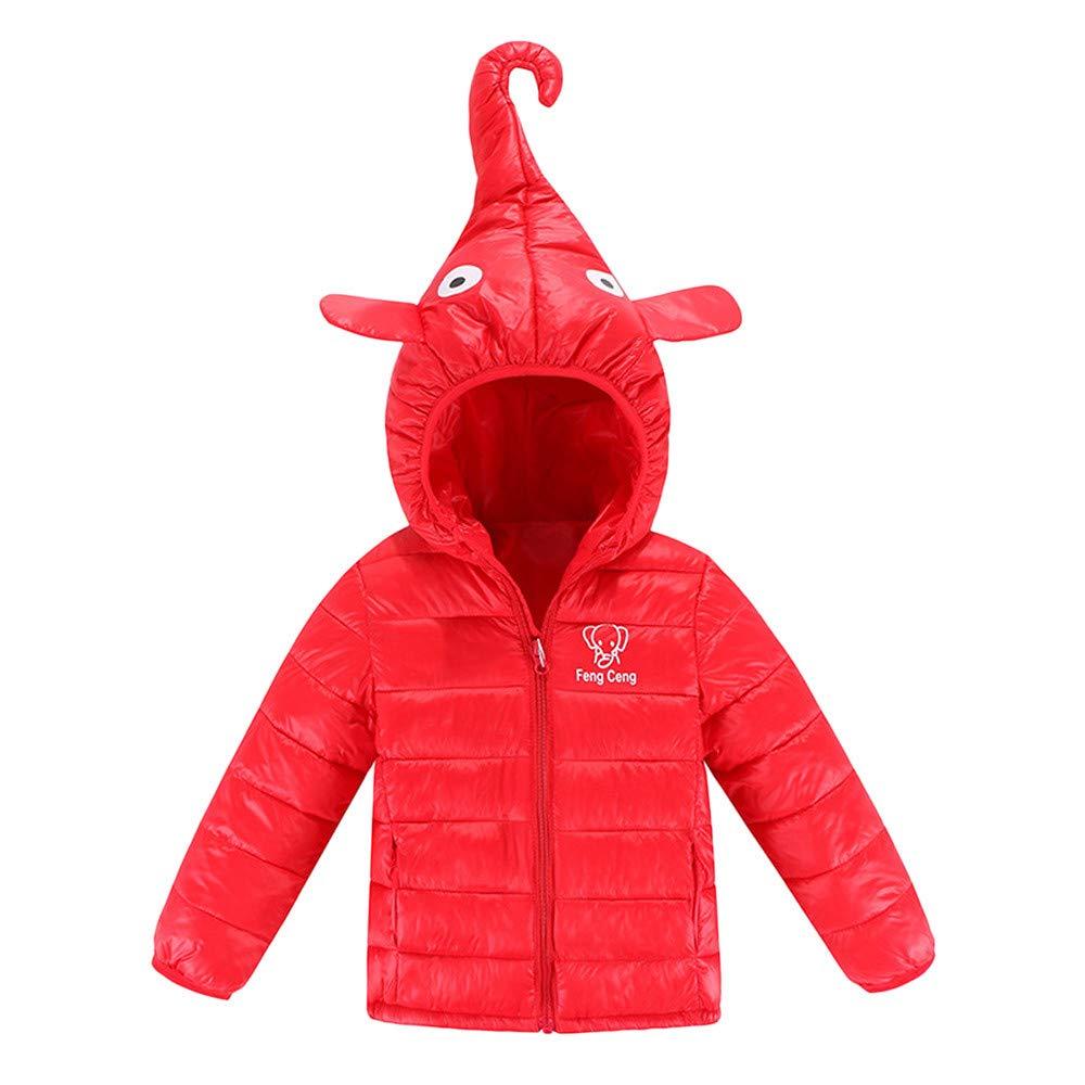 K-Youth Niñas Niños Abrigo de Algodón Invierno Grueso Nariz de Elefante Abajo Chaqueta con Capucha Trenca Ropa Bebe Niño Abrigo Bebe Niña Otoño Jacket Parka para Niños