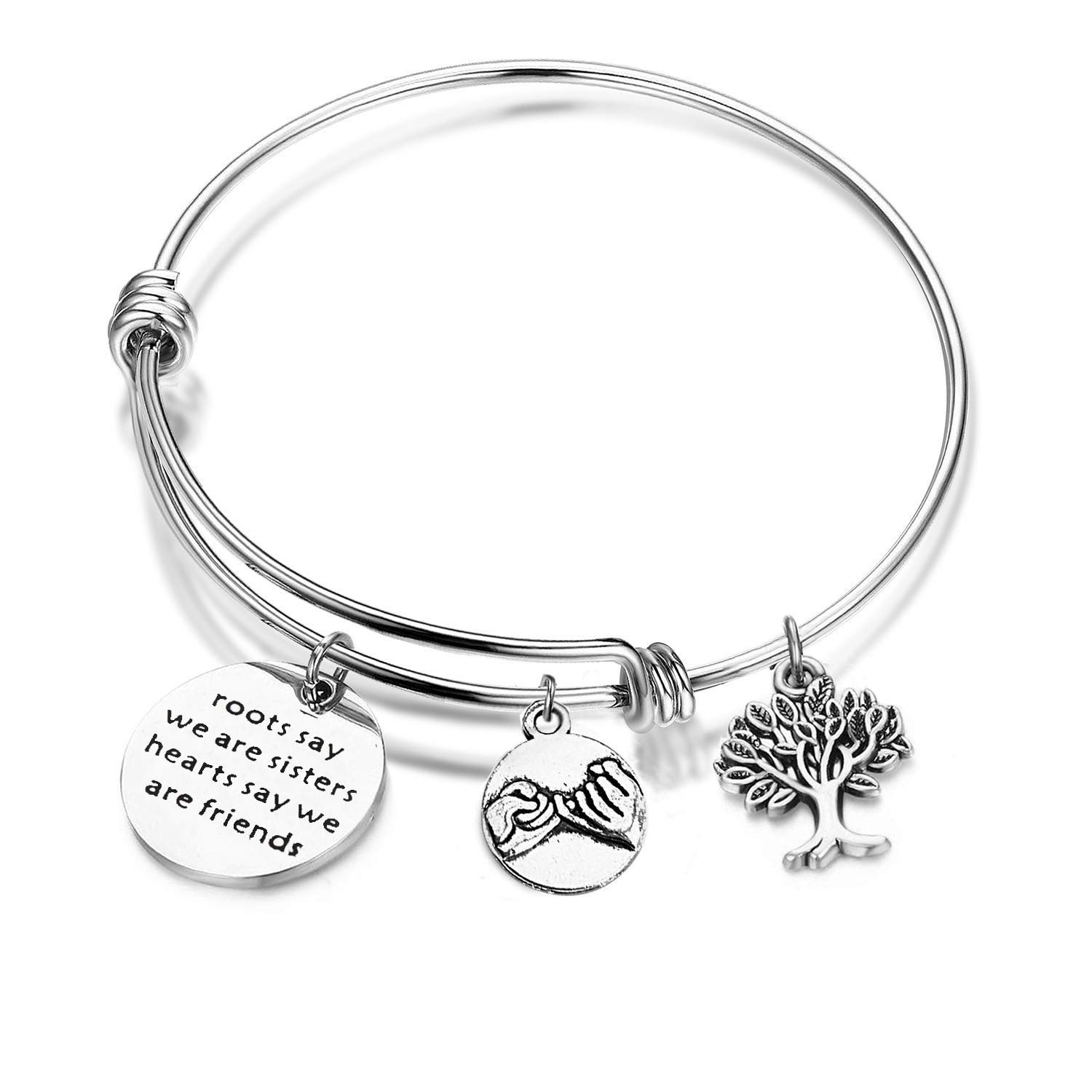 Gzrlyf Sisters Bracelet Our Roots Say Were Sisters Friendship Bracelet Gifts for Sisters Cousins