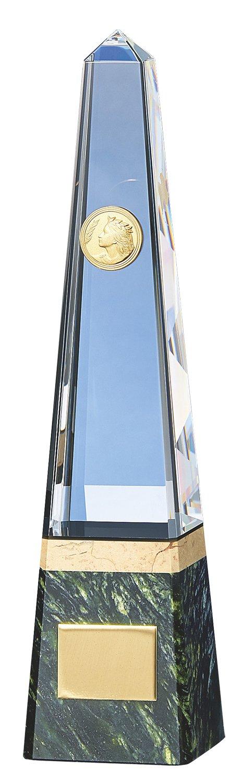 サンレオ クリスタルトロフィー 250×60mm ガラス製 YC-2978 B   B07CL3WCFY