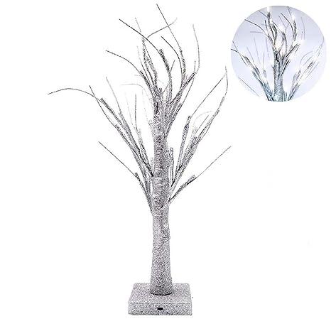 LED Twig Tree Light Desk Lamp Home Decor For XMas Party Wedding Valentines DaySilver Amazonca Tools Improvement