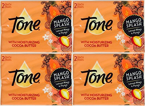 - Tone Bath Bars Cocoa Butter Mango Splash, 4.25 Oz, 2 Count, (Pack of 4) 8 Bars Total