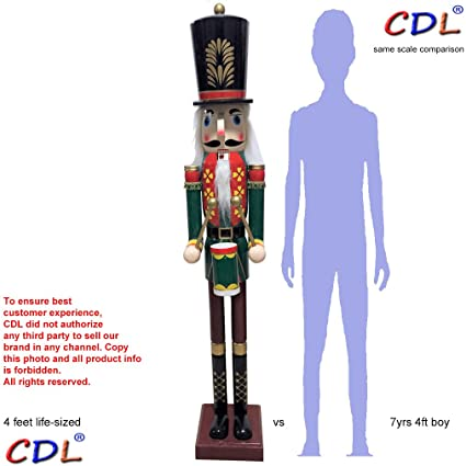 ecom cdl cdl 48 4ft tall life size largegiant christmas wooden - Large Life Size Toy Soldier Christmas Outdoor Decorations