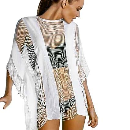 3d2f8317da8 Image Unavailable. Image not available for. Color: Diamondo Women Lace  Crochet Swimsuit Bikini Cover up Swimwear Bathing Suit Summer Beach Dress