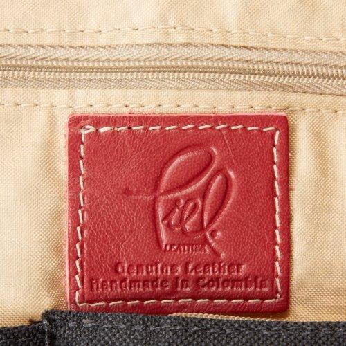 Piel Leather Computer Borsa, Sella, un formato Rosso