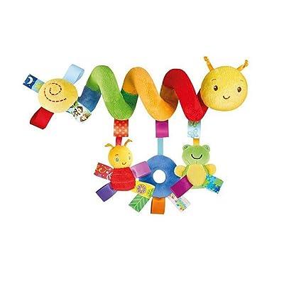 ZALING Cartoon Animal Baby Stroller Hanging Toy Kid Baby Crib Cot Pram Hanging Rattles Spiral Stroller Car Seat Toy: Toys & Games