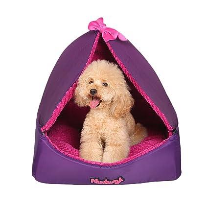 Suministros para camas Cama de Perro o cojín para Mascotas púrpura Desmontable Villa de Mascotas Habitación