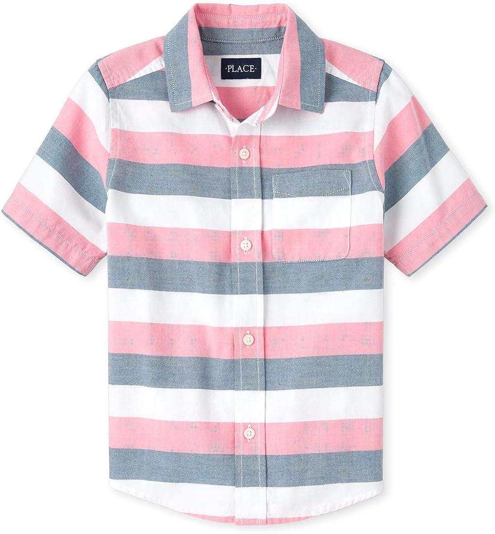 The Childrens Place Boys Big Short Sleeve Uniform Polo