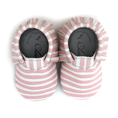 Its A Girl! • 100% American Leather Moccasins for Babies & Toddlers • Made