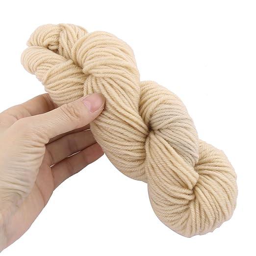 Amazon.com: eDealMax Festival de fibra acrílica del Regalo DIY ganchillo bufanda del Sombrero del arte del hilado 70g 82 yardas 2pcs Beige