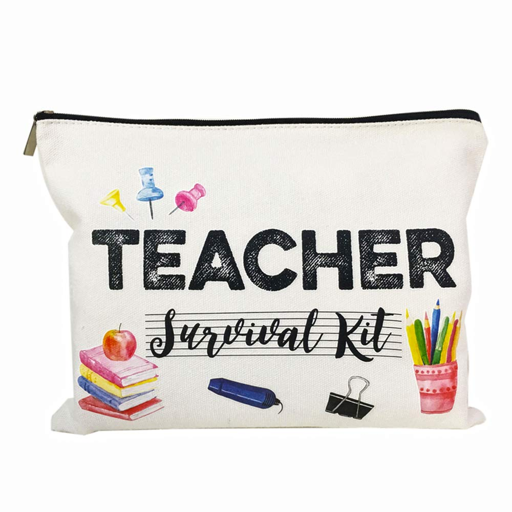 Teacher Appreciation Gifts Music Teacher Gifts Teacher survival kit Teacher Supplies for Classroom Best Teacher Gift Small Gift Bags Makeup Bag Teacher Bag for Women