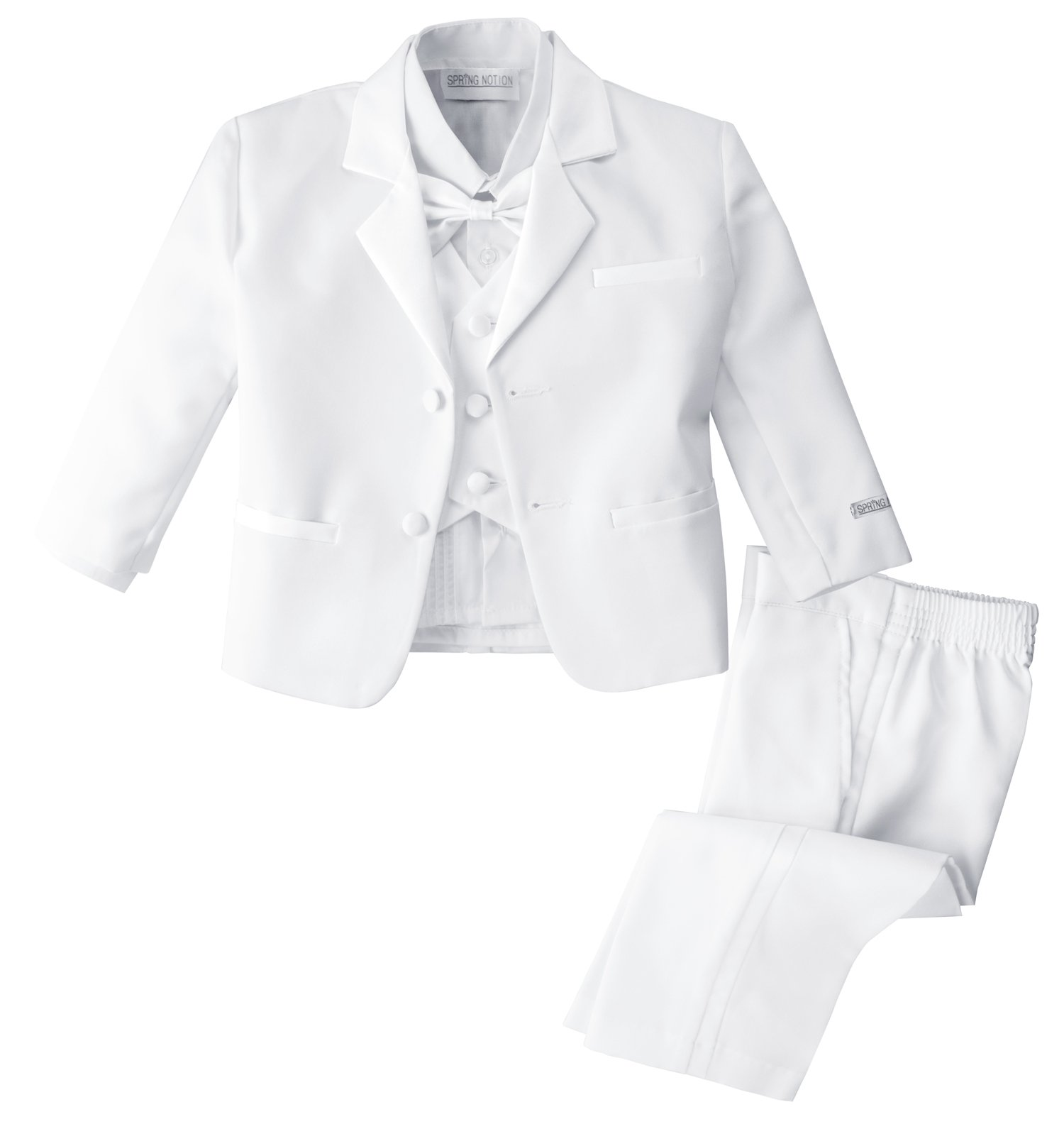 Spring Notion Baby Boys' White Classic Fit Tuxedo Set, No Tail 9M