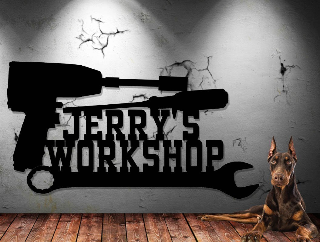 Mechanic's Workshop Sign - Toolbox - Shop Sign - Tool Sign - Customize It! Personalized Sign - Metal Wall Art Man Cave