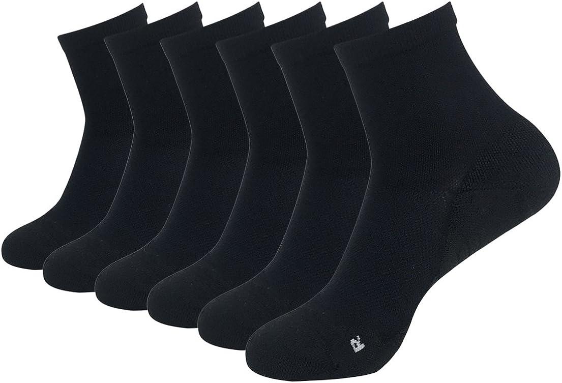Lot Pairs Mens Sports Ankle No Show Striped Socks Running Hiking Travel Socks
