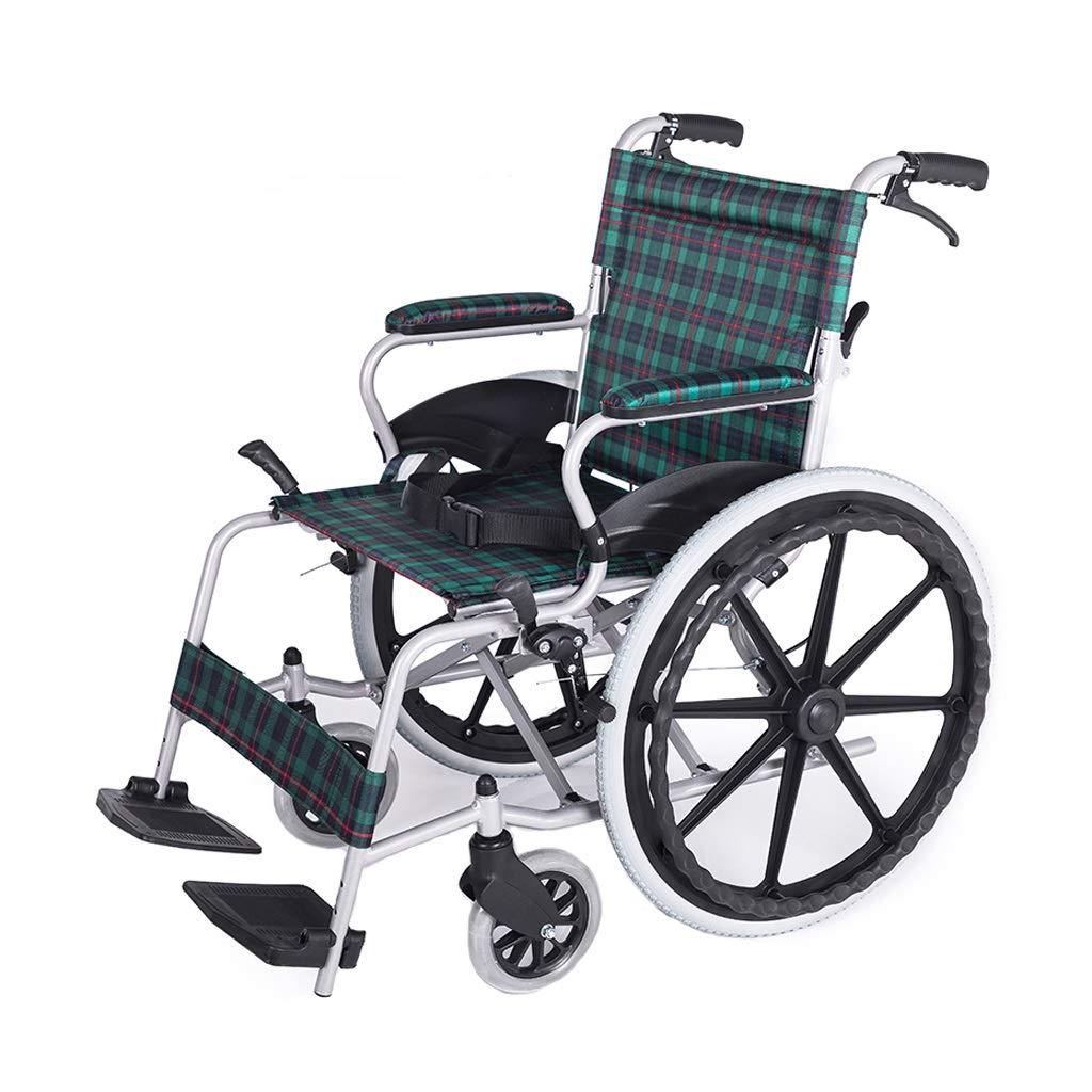 【オープニングセール】 手動車椅子 - 折りたたみ式ポータブルハンドブレーキ高齢者用車椅子 緑) (色 手動車椅子 緑 : 緑) 緑 B07P6B2XCN, リビングインテリアgorri(ゴリ):28d39266 --- a0267596.xsph.ru