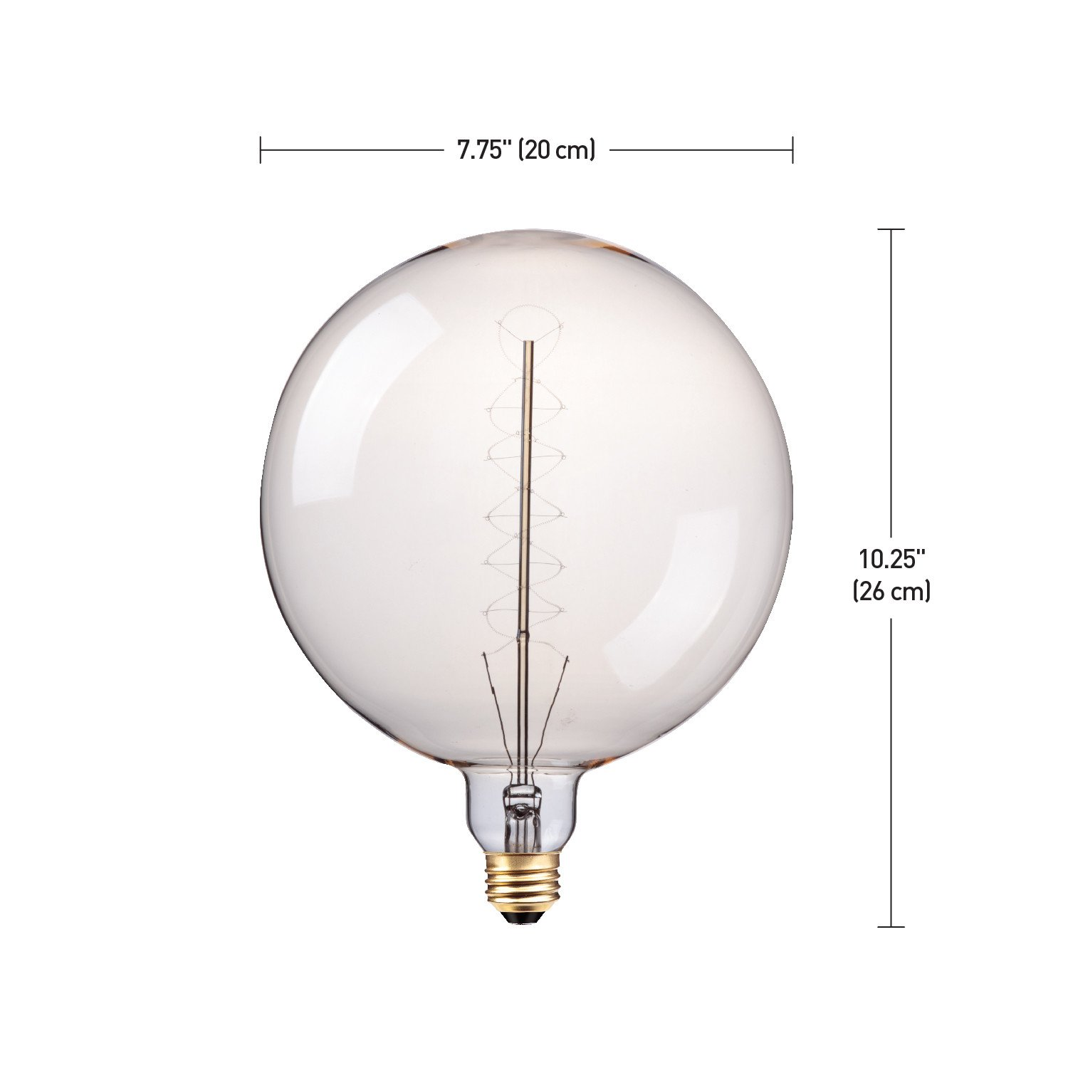 Globe Electric 100w Oversized Vintage Style Clear Glass Dimmable Incandescent Light Bulb Diagram Bulbs E26 Base 400 Lumens 80126