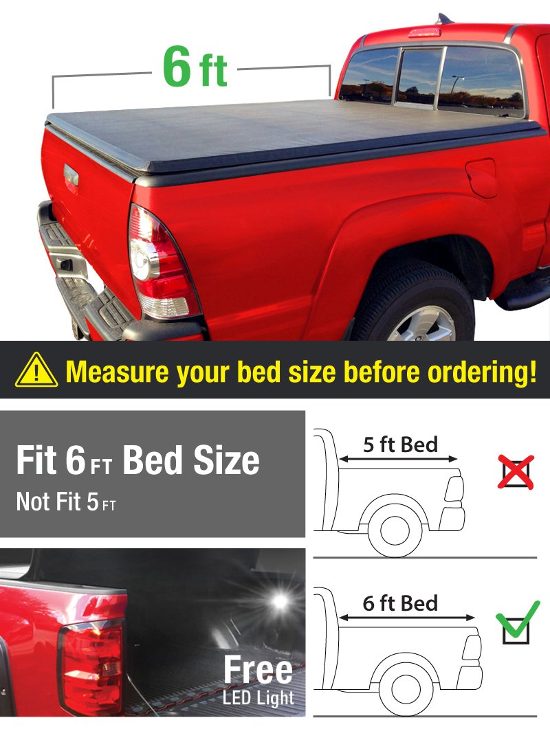 MaxMate Tri-Fold Truck Bed Tonneau Cover works with 2005-2018 Nissan Frontier