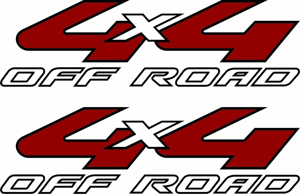 """DODGE OFFROAD STICKER FITS FORD CHEVY TRUCK 3.6/""""X13/"""" WHITE 2-4X4 SIDE DECALS"""