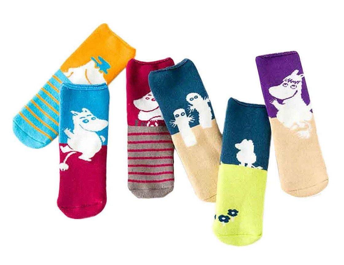 Happy Cherry Unisex Kids Winter Cotton Crew Socks Pack of 6