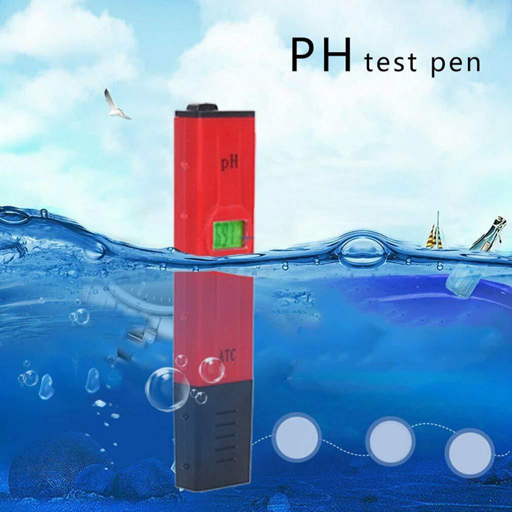 Rango de Medici/ón Para 0-14 Ph Ph 0,01 Precisi/ón Para El Suministro de Agua//Acuarios//Hidropon/ía//Piscina Medidor de Ph Digital Calidad Webla Pluma Tester de De L Eau Digital Lcd