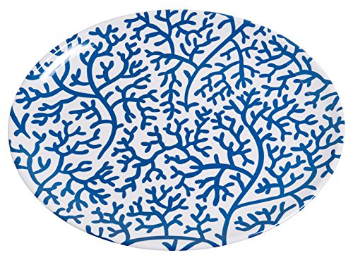 Galleyware Blue Coral Melamine Oval Platter
