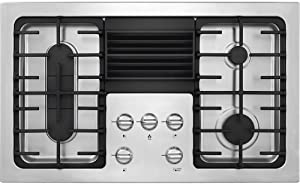 Frigidaire 36 Inch Gas Downdraft, Stainless Steel 4-Burner Range with Liquid Propane Conversion Kit, RC36DG60PS Cooktop
