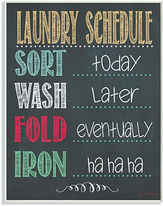 17 x 17 The Stupell Home D/écor Collection Wash Dry Fold Over and Over Again Humor Stretched Canvas Wall Art