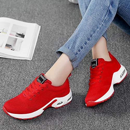 Scarpe Sneakers Stivali Traspirante Casual Da Rosso Studente Da Donna Invernali Scarpe Scarpe Scarpa ASHOP Tessute Battenti Sportive Donna Corsa Running paYAra