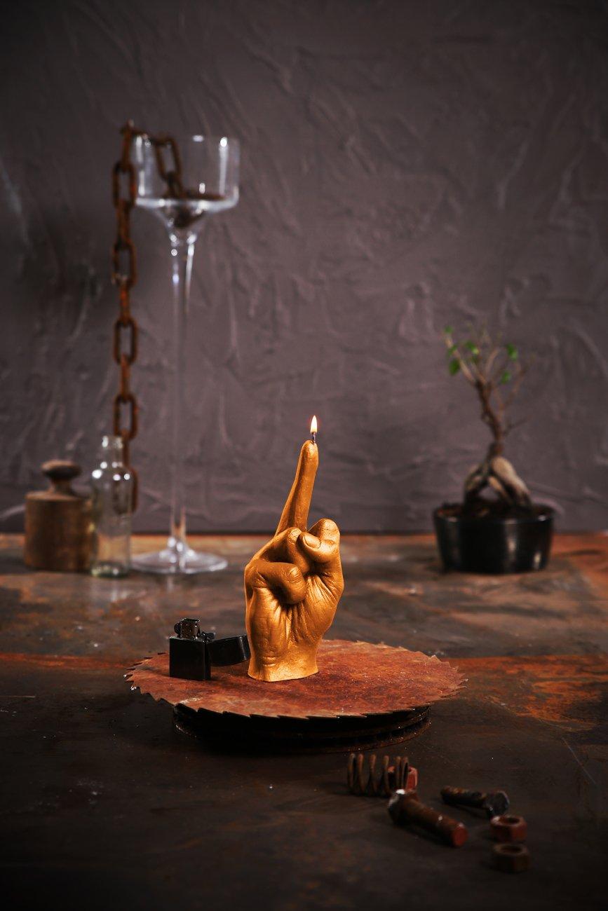Candellana Candles Candellana- Middle Finger Candle-Orange,