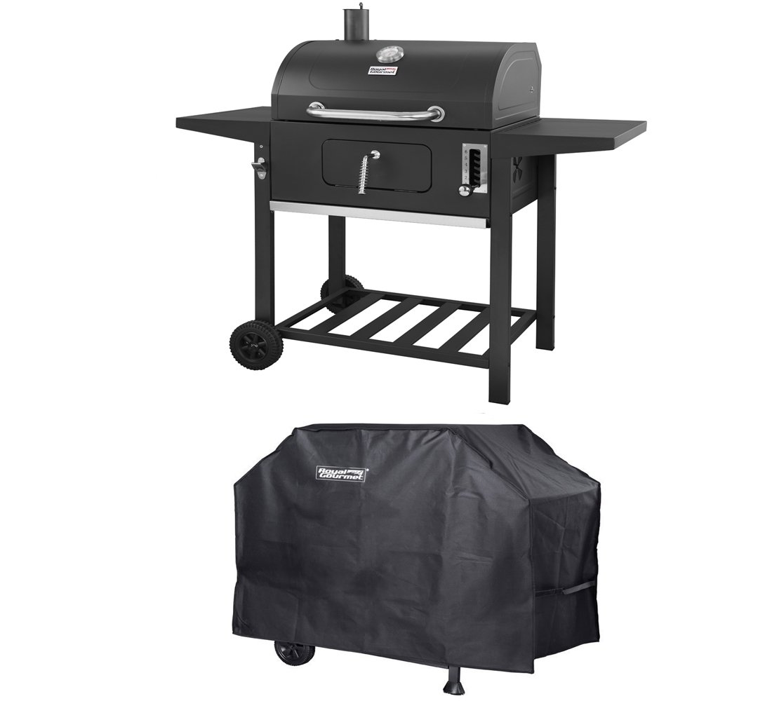Royal Gourmet Charcoal Grill BBQ Patio Backyard Cooking (Grill + Cover)