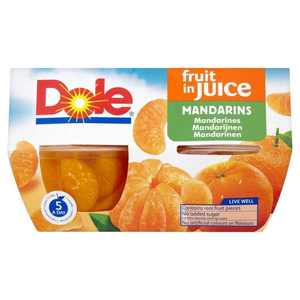 Dole Fruit Bowl Mandarins in Grape Juice (4x113g) - Pack of 2