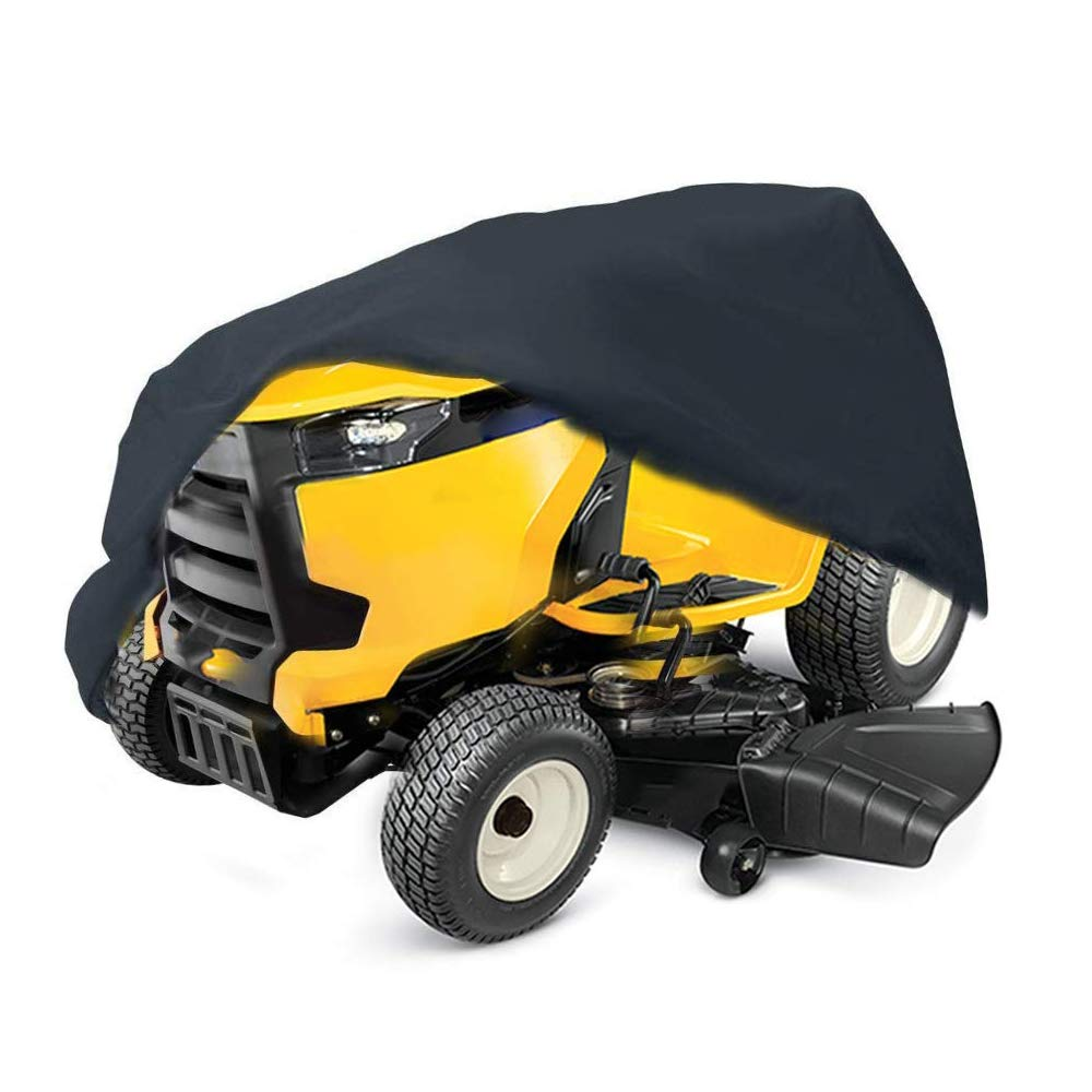 "2win2buy Lawn Mower Cover Waterproof Heavy Duty 210D Polyester Oxford Tractor Cover UV & Dust & Weather Mildew Resistant with Drawstring & Storage Bag Fits Decks up to 54"" (Riding Lawn Mower Cover)"