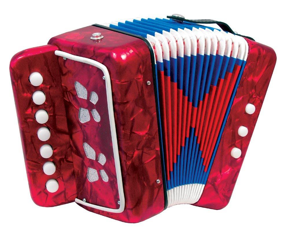 Scarlatti Child's 7 Key Melodeon Accordion - Red Scarlatti Accordions ST214 RED