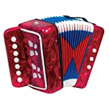 Scarlatti Child's 7 Key Melodeon Accordion - Red