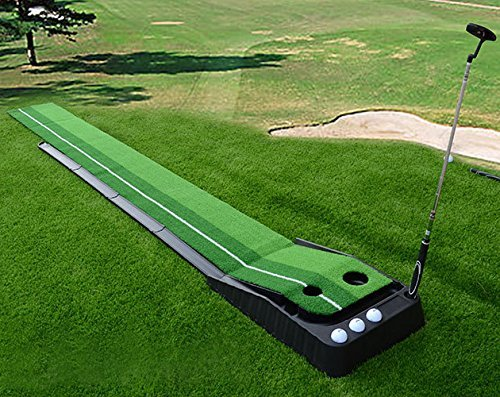 Signstek Indoor Outdoor Golf Auto Return Putting Trainer Mat - best golf training aids