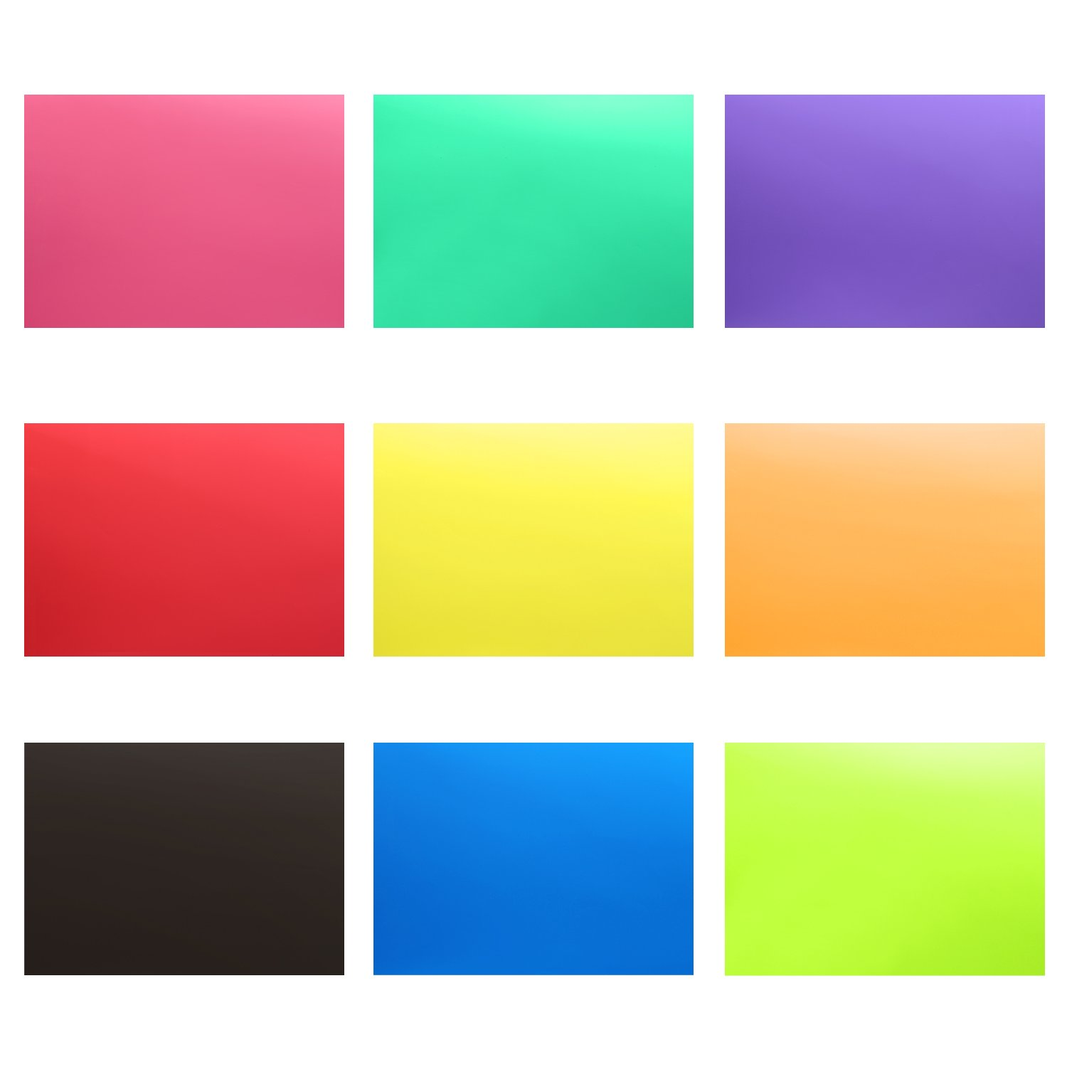 Neewer 9 Pieces Flash Lighting Gel Filter Kit with 9 Different Colors - 12x8.3 inches Transparent Color Correction Lighting Film Plastic Sheets by Neewer