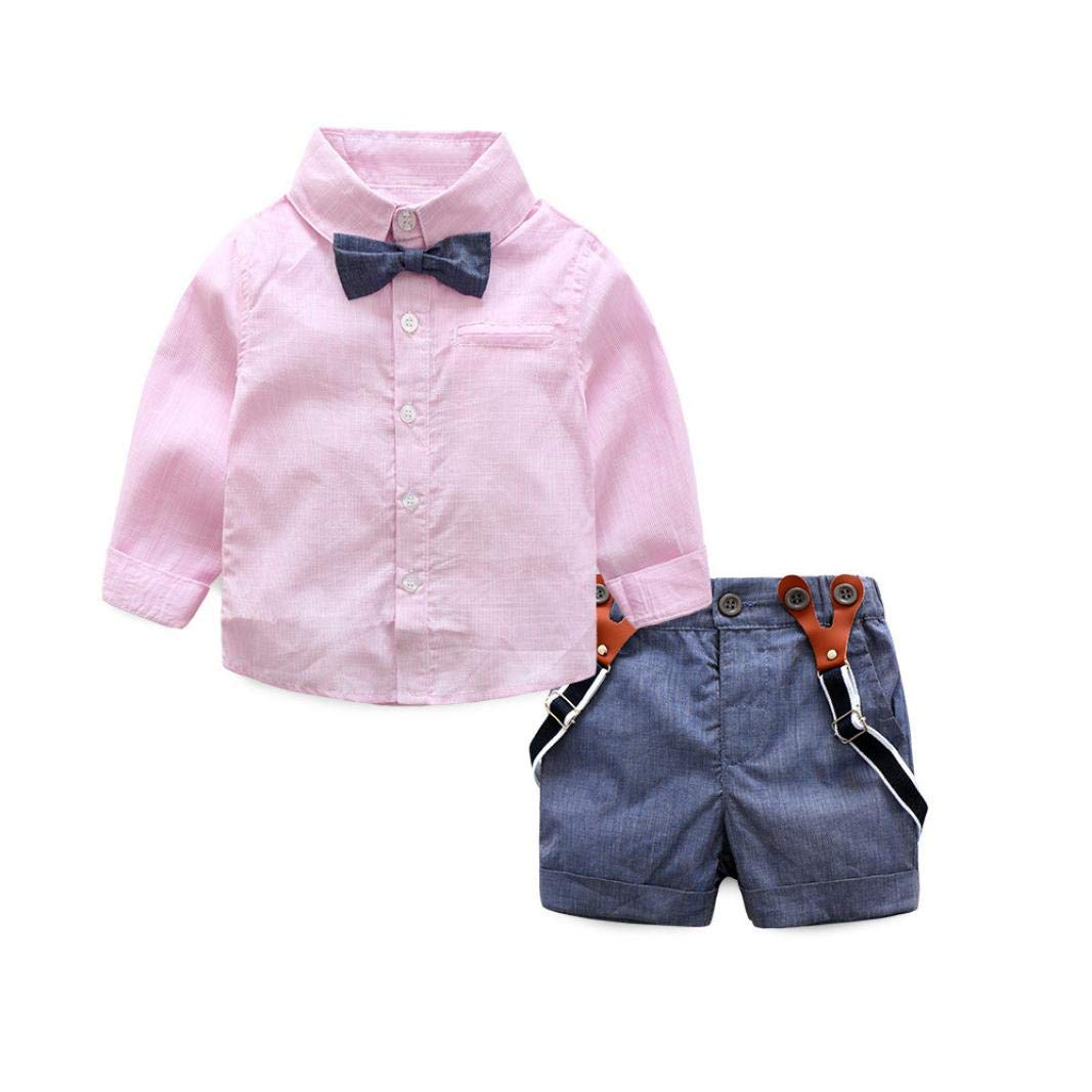 Cute Toddler Costumes,Lowprofile 1Set School Wind Children Baby Boys T-Shirts Tops+Pants Outfits Clothes
