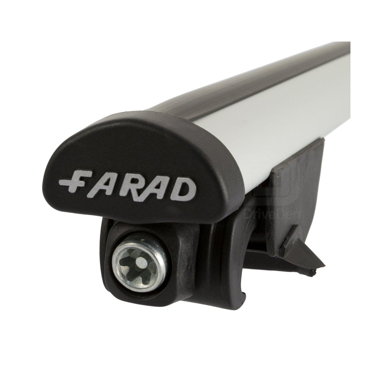 Closed Roof Rails Farad FA-PRE-427 Aero Aluminium Silver Roof Bar Set
