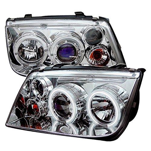 Spyder Auto PRO-YD-VJ99-CCFL-C Volkswagen Jetta Chrome CCFL LED Projector Headlight