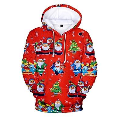 Luckycat Santa Sudadera Suéter de Navidad Unisex Sudadera Mujer de ...