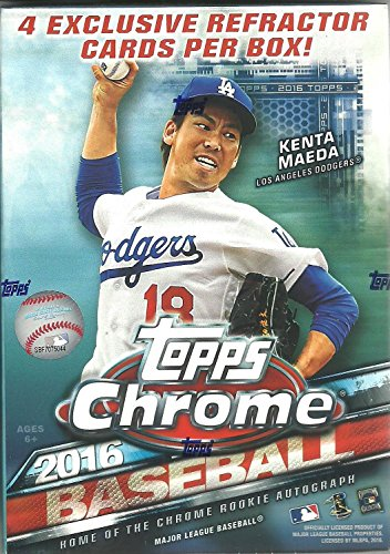 2016 Topps Chrome MLB Baseball Blaster Box - This Value Box Contains 4 Special Sepia Refractors Only Found In (Baseball Value Box)
