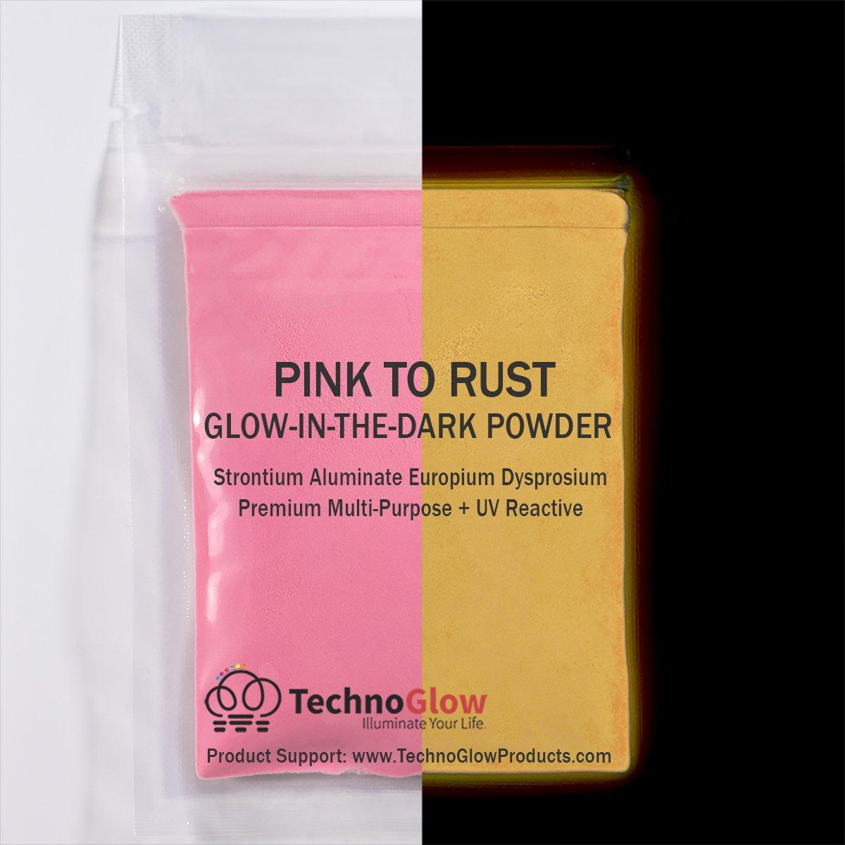 Pink Glow in the Dark & UV Powder (8 OZ) by Techno Glow Inc