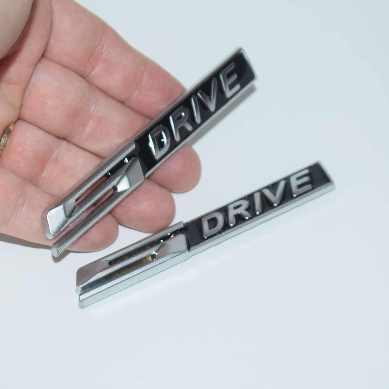 2 Pieces TOTUMY S Drive Sdrive Chrome For X6 V8 E92 E93 X5 X3 E63 Fender Badge Metal Car Trunk Side Auto Emblem Logo 3D Adhesive Hq Chrome