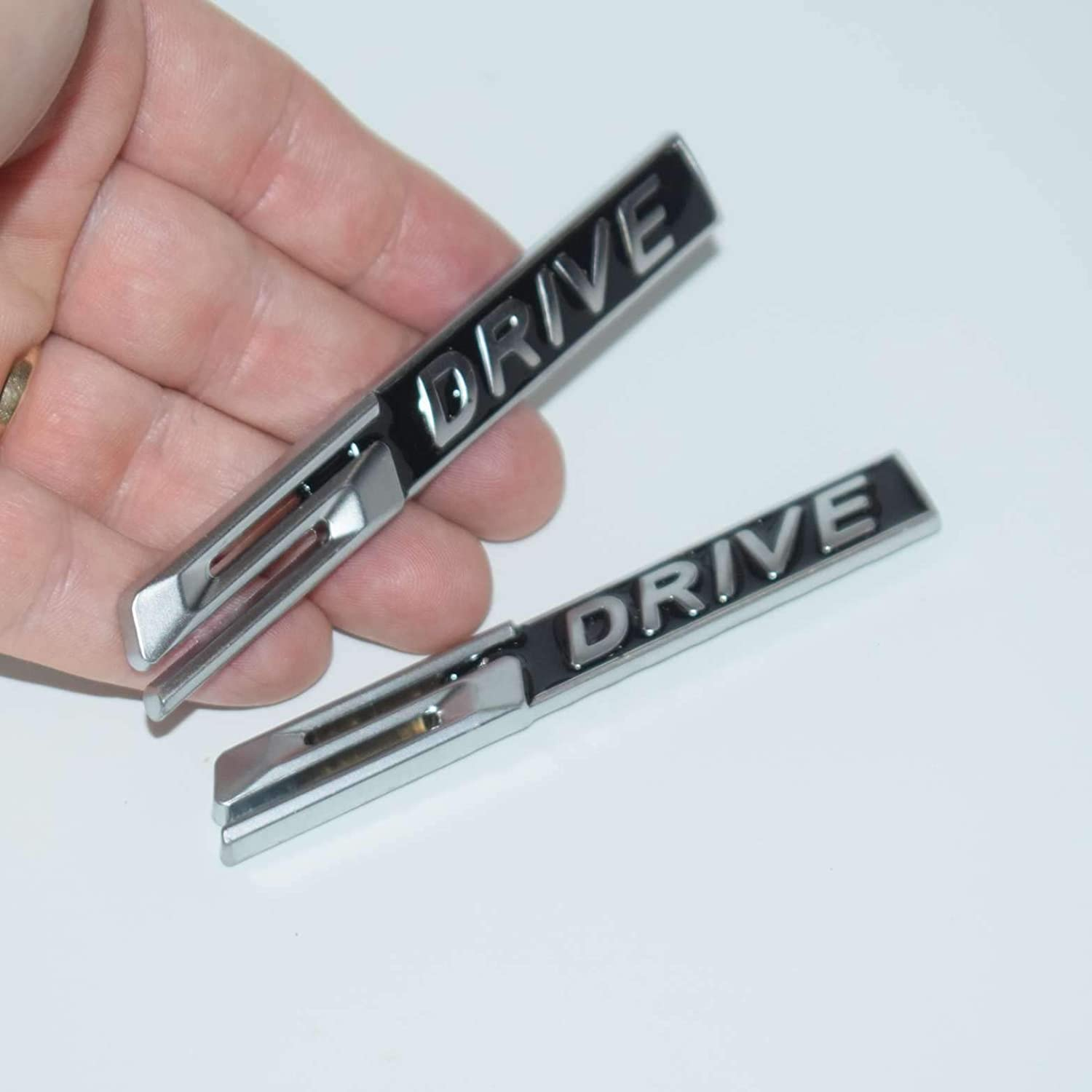 TOTUMY 2 Pieces S Drive Sdrive Chrome For X6 V8 E92 E93 X5 X3 E63 Fender Badge Metal Car Trunk Side Auto Emblem Logo 3D Adhesive Hq Chrome