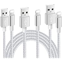 Nylon Braided USB Charger Cable IGUGIG 2.4A Fast Charger Cable Compatible with for iPhone X XR XS MAX 8 Plus 7 6s 5s 5c…