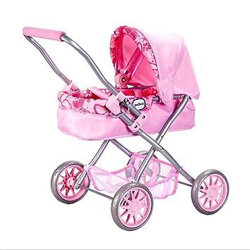 LLRDIAN Juguete Infantil Cochecito de bebé Jugar a casa Juguete niña muñeca simulación Cochecito