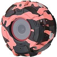 Cámara Deportiva HD, cámara de Reloj portátil Impermeable de 30 m con Lente Gran Angular y visión Nocturna WiFi Sport DV HD Watch Camera Support 32G Tarjeta SD para Deportes de Viaje, 0.97, Color Red