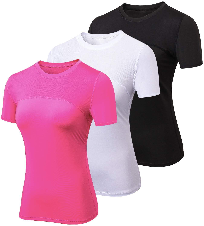 春早割 laventoレディースCool Dry圧縮ベースレイヤークルーネック半袖Running Pack-2023 Shirts w2501 B07ML5XY4T 3 red Pack-2023 Black B07ML5XY4T/White/Rose red X-Large X-Large|3 Pack-2023 Black/White/Rose red, ゴジョウメマチ:9ddf6cb9 --- ballyshannonshow.com