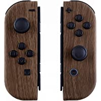 eXtremeRate Soft Touch Grip Wood Grain Joycon Handheld Controller Housing with Full Set Buttons, DIY Replacement Shell…