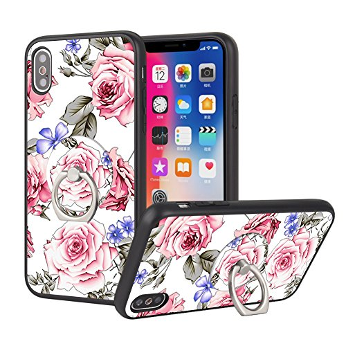 iPhone X Case with Ring Stand, iPhone 10 Protective Case with Phone Ring Holder and Grip Owa